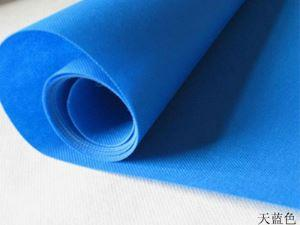 Sky blue color non-woven fabric